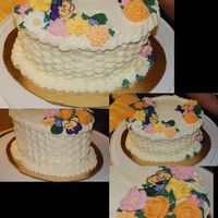 Wilton 2 Final Cake Just finished up the class on Monday. The cake was, ah, polished off by Wednesday.... It's a simple box mix yellow cake with class...