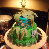Jungle Baby Shower  This was for my sister's baby shower. The inspiration for this cake was found here! I can't remember the original cake maker&#039...