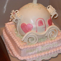 Cinderella Carriage  TheCakeShak was kind enough to send me the instrucions for this cake. Although mine looked nothing like the original, I was pretty pleased...