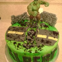 Hulk Smash Birthday Cake Hulk Smash Birthday cake I made for my nephew's 5th Birthday! Everything except the Hulk are made from MM Fondant!