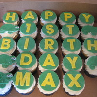 1St Birthday Fondant topped cupcakes I made for my nephew's first birthday
