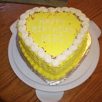 Heart Shaped Basketweave Cake