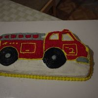 Fire Engine Birthday Cake   This is a cake that my husband and I made.