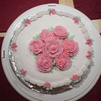 Rose Cake   One of the first cakes I made with roses..