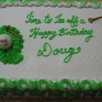 Tee Off To A Happy Birthday Iced in bc with fondant golf ball & tees