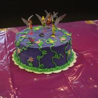 Tinkerbell Cake White Chocolate cake with chocolate truffle filling. Made for a friend's little girl. She had a joint party with her brothers--did a...