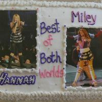 Hannah Montana - Miley Cyrus I made this cake for my niece. I laminated pictures from the concert I took her to that week so she could have a keepsake. I layed each of...
