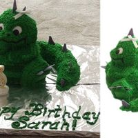 The Princess' Dragon Large 3-D Teddy bear cake made into a dragon.