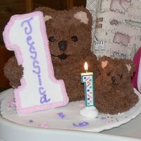 Teddy Bear First Birthday Cakes These are made from Wilton's 3-D bears in regular and mini size. The #1 is cardboard covered with fondant (as is the plate) and...