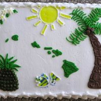 "Hawaii Theme Cake I made this for my nephew. He was 6 years old. When I asked what he wanted he said a ""Hawaii cake."" My husband and I had just..."