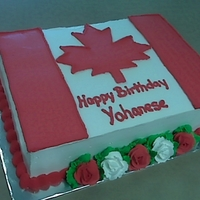 Welcome To Canada This cake was for a boy just adopted into a Canadian family... his first Canadian birthday!