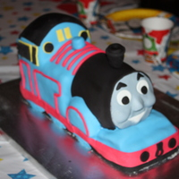 Thomas The Train Carved chocolate cake covered in chocolate BC and fondant. TFL!