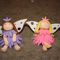 Fairies Fondant fairies. Thank you to CC member for inspiration!
