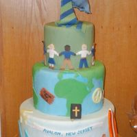 Reflection Cake This cake was done for our head of school who was moving on. It reflects his passion, interests. The blue heron is the school mascot. It is...