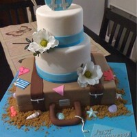 Wedding Cake Travelling beachy themed