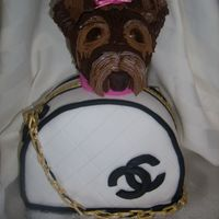 Yorkie Purse Birthday Cake