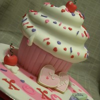 Valentine's Day Giant Cupcake