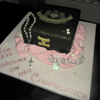 Juicy Couture Cake Everything is edible except for the rosary