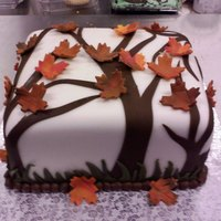 Falling Leaves Did this cake just for fun.