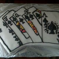 Royal Flush  This was my first attemp at this cake. Trial and err. Already know how to make it better next time. Second cake with fondant. Still getting...