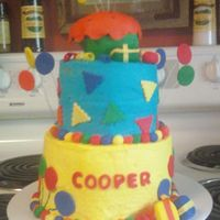 Birthday Cake   Made this for my first paying customer, for a 1st b-day