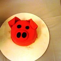 Pig Smash Cake   My neice's first birthday smash cake to go with the barn yard cake I made.