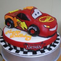 Cars : Lightning Mcqueen   Lightning McQueen Cake. This was my first real attempt at sculpting.