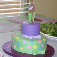 Custom Baby Shower Topper I cut the mother to be out from the invitation and used her to make the pattern for this gumpaste topper. The cake was completely inspired...