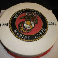 Marine Corps Birthday i work at a defense company with many ex military such as the marines. I was very proud this cake went over well and after the party i was...