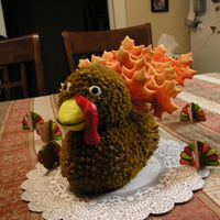 Gobble Gobble This is the cake i made for thanksgiving 2006. It was inspired by wilton. everyone loved it and my mother refused to eat the head, but ate...