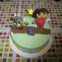 Dora The Explorer This cake was such a success for me. I made my neice and AWFUL first birthday cake so this year i was nervous and wanted it to be...