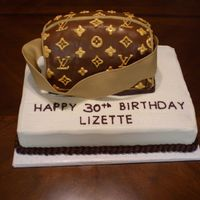 Louis Vuitton Cake This is the cake i made for my sisters 30th surprise birthday party. I was very very proud of this cake. With all of the great help and...