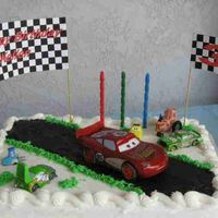 Disney Cars Birthday Cake  Thanks to everyone here, my Cars cake was a success. I cheated and started with an undecorated Costco cake. the road is chocolate...
