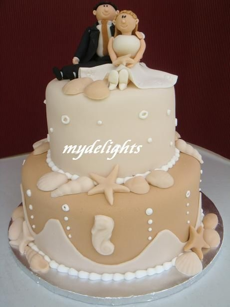 Sea Theme Wedding Cake