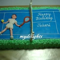Johari's Tennis Theme Birthday Cake