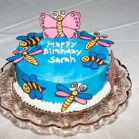 Girl Bugs My niece and nephew are twins, so my sister had a bug themed birthday. This was the girl's cake, so I was trying to make it look like...