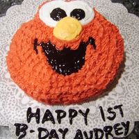 Elmo Cake   Elmo cake made for my nieces 1st b-day. White cake store bought frosting.
