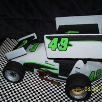 Sprint Car   Replica of actual Knoxville sprint car. Wheels were made from RKT covered with fondant.