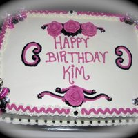 Birthday Cake For my friend Kim. I had no plan and it shows. I wasn't thrilled with the outcome, but she loved it. Inspiration from Cakery. I just...