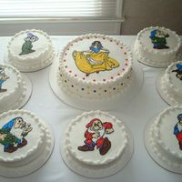 Snow White And The Seven Dwarfs My sister and I made these cakes for a birthday party for a lovely lady turning 80 yrs young. The lady has always loved snow white. The...