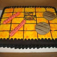 Grill Cake I got this wonderful idea for this cake from this website! And the customer LOVED IT!Thank you so much for the ideas and awesome cakes my...
