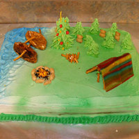 Camping & Canoeing I made this cake for a Christmas party for my son's Boy Scout Troop.