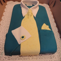 Men's Shirt And Tie Cake made for my son's teacher who was leaving. My son asked me make him a shirt and tie because he wore a shirt and tie everyday.