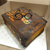 Harry Potter Birthday Cake Harry Potter Book of Spells made for a Halloween birthday party.