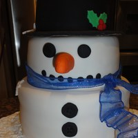Snowman Cake Cake made for a xmas party