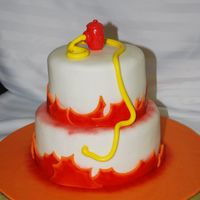 Fire Cake I made this for practice and had my husband take it to work. He is in safety and loss prevention so it fits. The guys loved it.