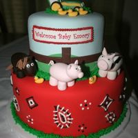 Farm Animal Baby Shower This was all fondant with fondant accents. TFL!