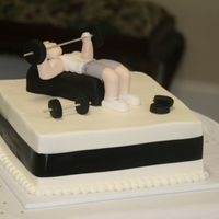 Body Builder Grooms Cake This was buttercream with all fondant accents. TFL!