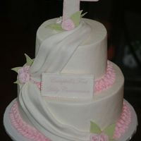 First Communion Cake This was buttercream with fondnat accents. TFL!