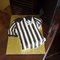 Referee Shirt Fondant layed on cake